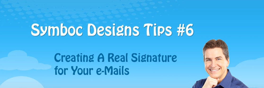 header for a video that shows you how to create a real signature image for emails or letters.